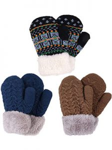 Arctic Paw Sherpa 3-Pack Lined Mittens