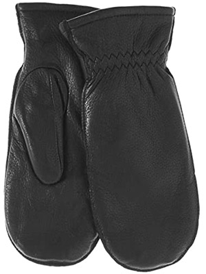 Pratt and Hart Women's Winter Deerskin Leather Mittens with Finger Liners